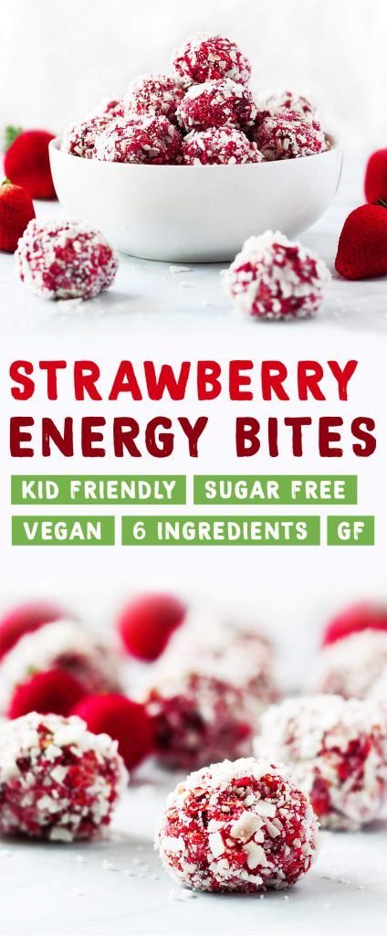 Healthy strawberry energy bites snack | spartanlifeblog.com
