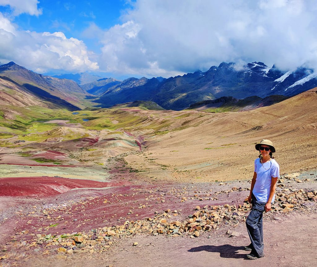 rainbow mountains hiking in peru