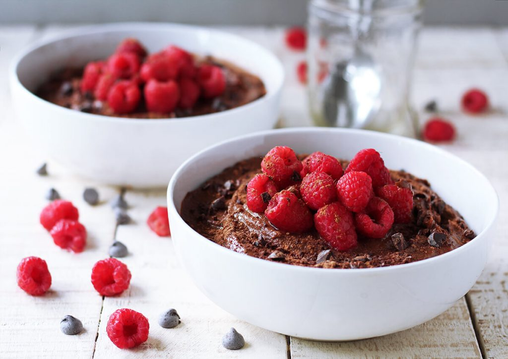 vegan low fat chocolate pudding | spartanlifeblog.com