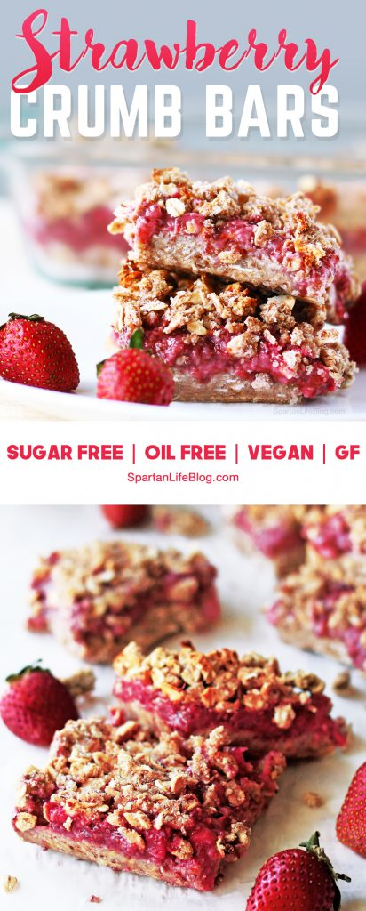 pinterest strawberry crumb bars | spartanlifeblog.com