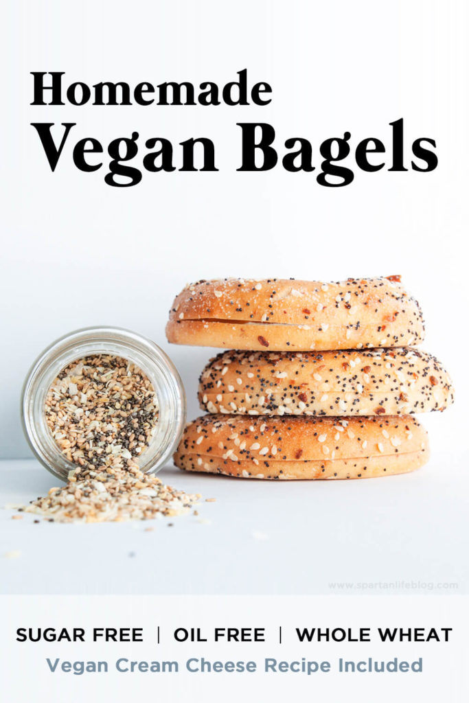 pinterest homemade vegan bagels recipe | spartanlifeblog.com