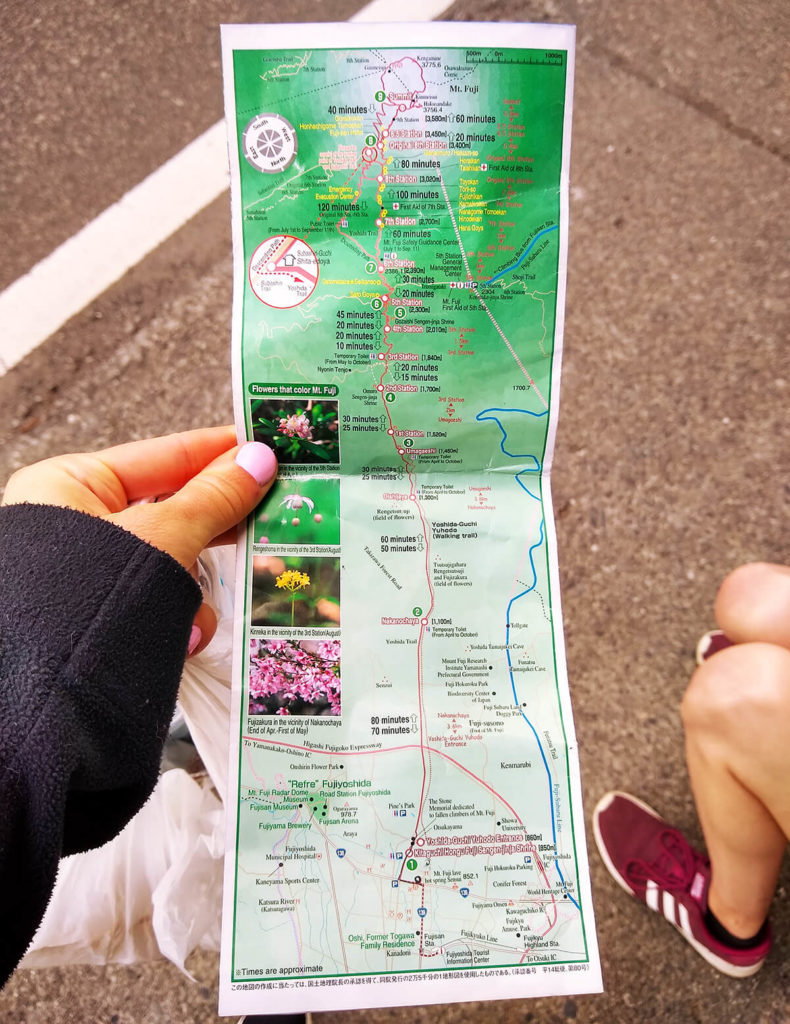 Mt Fuji English Hiking Map