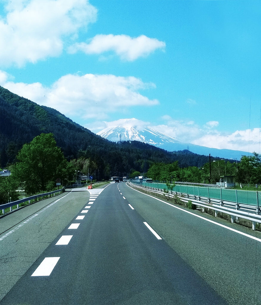 Mt Fuji from highway